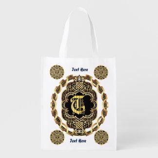 Monogram T Shopping Bag Reusable