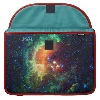 Monogram Tadpole Nebula with poetic quote MacBook Pro Sleeves