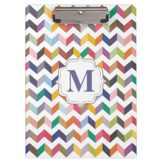 Monogram Teachers Clip board Chevron Pattern