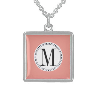 monogram template personalized necklace