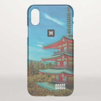 Monogram. Temple in Japan iPhone X Case