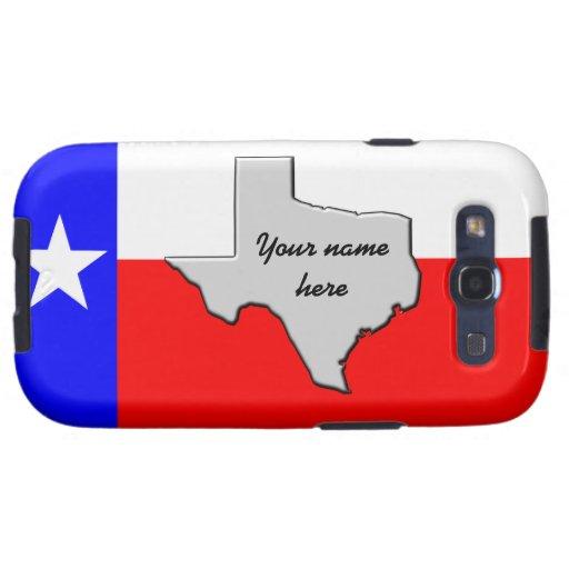 Monogram Texas Pride case Samsung Galaxy S3 Case