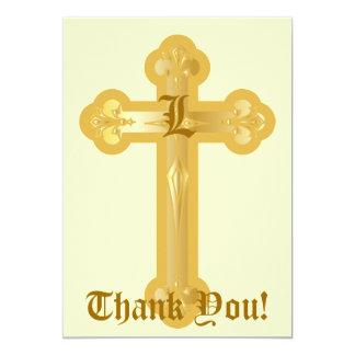 "Monogram Thank You Card-Customize 5"" X 7"" Invitation Card"