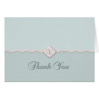 Monogram Thank You Greeting Card