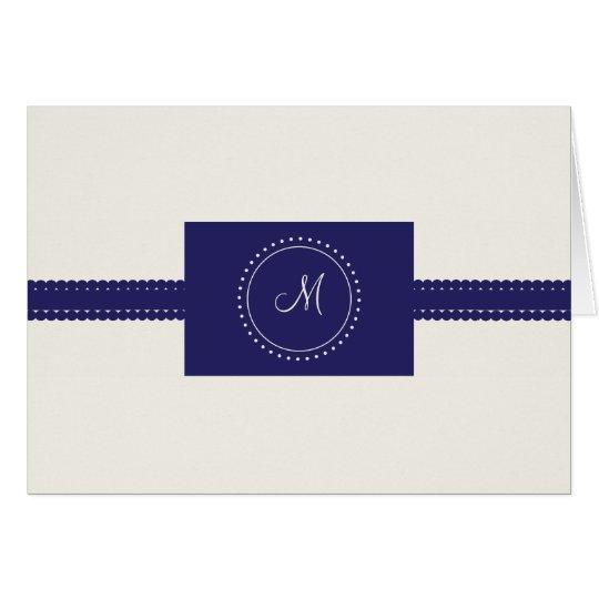 Monogram Thank You (navy) Card