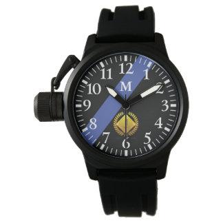 Monogram: The Thin Blue Line. 1 Year Anniversary. Wrist Watches