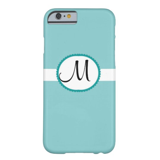 Monogram Tiffany Blue Barely There iPhone 6 Case