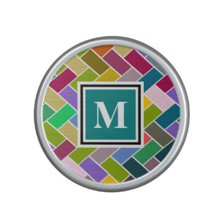 Monogram Tiled Colourful Repeating Pattern Bluetooth Speaker