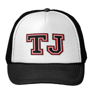 Monogram 'TJ' Initials Cap