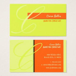 Monogram, tone on tone {customizable background} business card