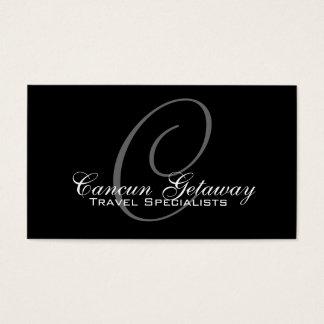 Monogram Travel Agent Business Card