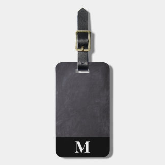 Monogram Travel Gray Chalkboard Luggage Tag