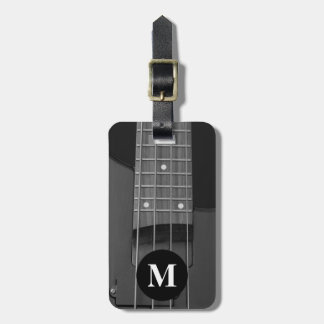 Monogram Travel Music Electric Bass Guitar Luggage Tag