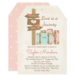 Monogram Travelling from Miss to Mrs Bridal Shower 13 Cm X 18 Cm Invitation Card