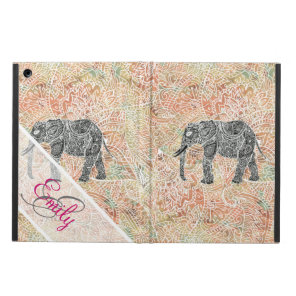 Monogram Tribal Paisley Elephant Colourful Henna Case For iPad Air