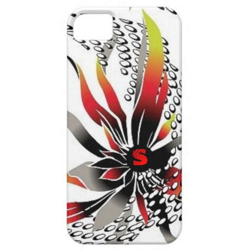Monogram Tropical Flower with dots Case For iPhone 5/5S