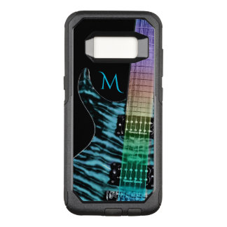 Monogram Turquoise Electric Guitar Music OtterBox Commuter Samsung Galaxy S8 Case