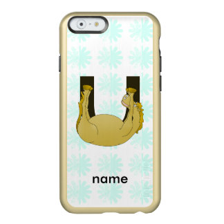 Monogram U Cute Pony Customized Incipio Feather® Shine iPhone 6 Case