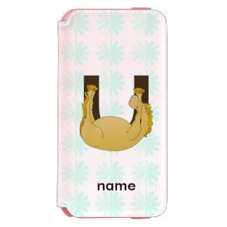Monogram U Cute Pony Customized Incipio Watson™ iPhone 6 Wallet Case