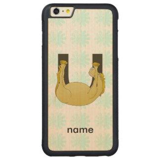 Monogram U Cute Pony Customized iPhone 6 Plus Case
