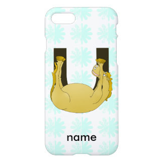 Monogram U Cute Pony Customized iPhone 7 Case
