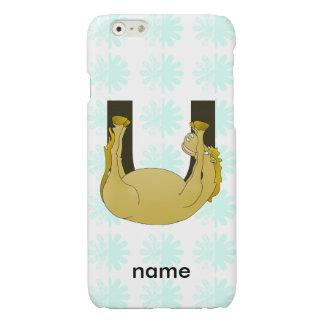 Monogram U Cute Pony Customized Glossy iPhone 6 Case