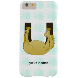 Monogram U Cute Pony Personalized Barely There iPhone 6 Plus Case