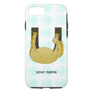 Monogram U Cute Pony Personalized iPhone 7 Case
