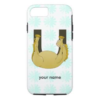 Monogram U Cute Pony Personalized iPhone 7 Case