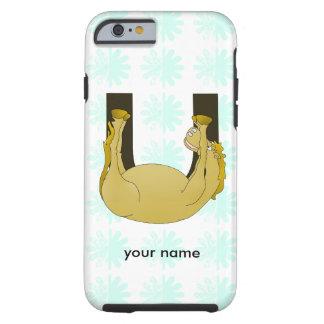 Monogram U Cute Pony Personalized Tough iPhone 6 Case