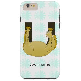 Monogram U Cute Pony Personalized Tough iPhone 6 Plus Case