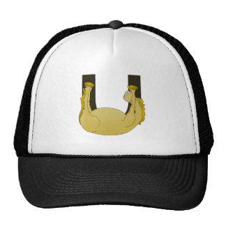 Monogram U Funny Pony Personalized Mesh Hats