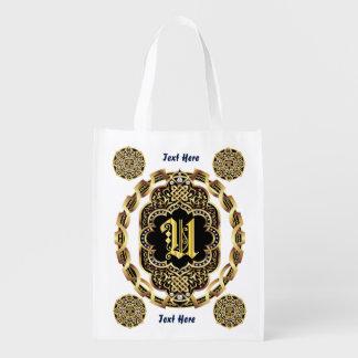 Monogram U Shopping Bag Reusable