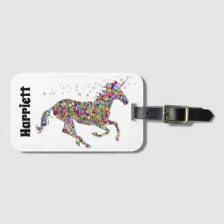 Monogram Unicorn Luggage Tag