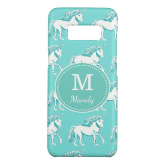 Monogram Unicorns Turquoise Samsung Galaxy S8 Case