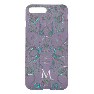 Monogram Unique Jeweled Look Mandala iPhone 8 Plus/7 Plus Case
