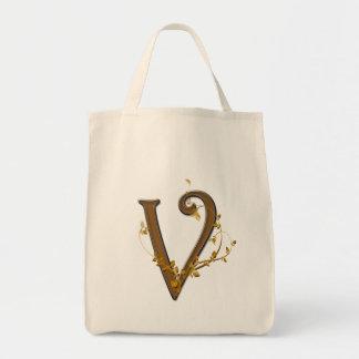 Monogram V Tote Bag