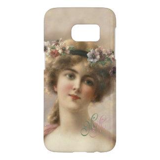 Monogram Victorian Nostalgia Vintage Flower Girl