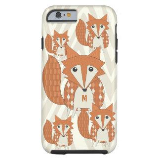 Monogram Vintage Fox Art Ivory Zig Zag iphone 5 Tough iPhone 6 Case
