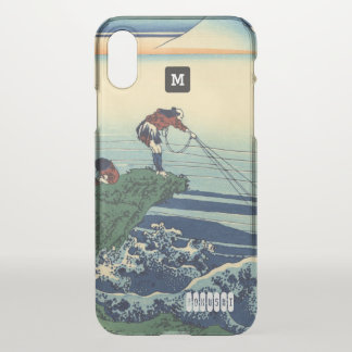 Monogram. Vintage Japanese. Hokusai Painting. iPhone X Case