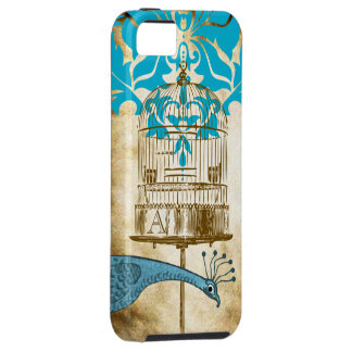 Monogram Vintage Peacock Birdcage Damask iPhone 5 iPhone 5 Case