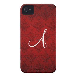 Monogram vintage red damask iPhone 4 Case-Mate cases