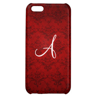 Monogram vintage red damask iPhone 5C covers