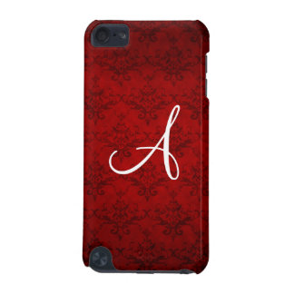 Monogram vintage red damask iPod touch (5th generation) cover