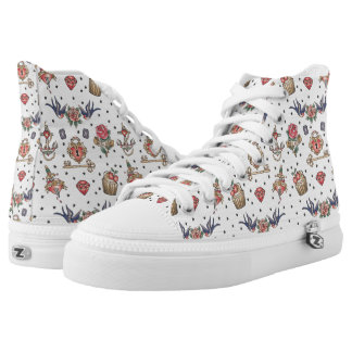 Monogram. Vintage Tattoo Collection. High Tops