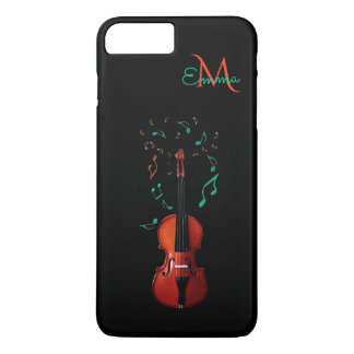 Monogram Violin Music iPhone 7 Plus Case