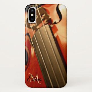 Monogram Violin Music iPhone X Case