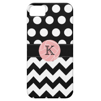 Monogram Volleyball Polka Dot Zigzag iPhone 5 Case