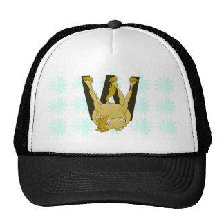 Monogram W Funny Pony Personalised Hats