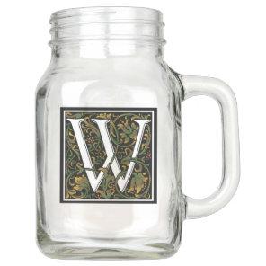 Monogram W Mason Jar